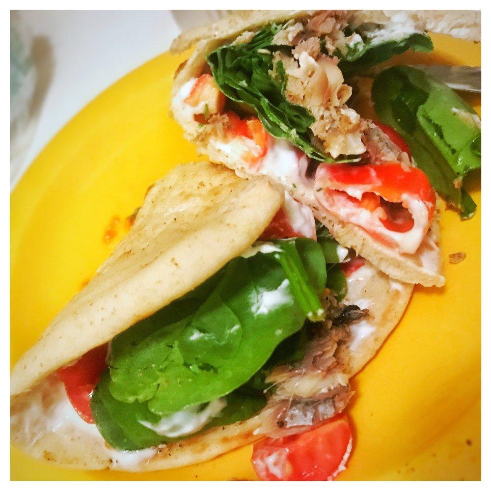 Sardine & Veggie Pita