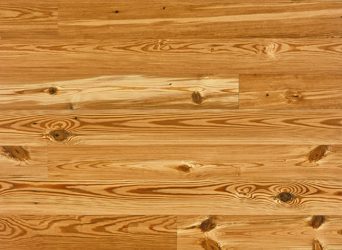 Reclaimed Heart Pine Wood Flooring, Solid, Unfinished 3⁄4