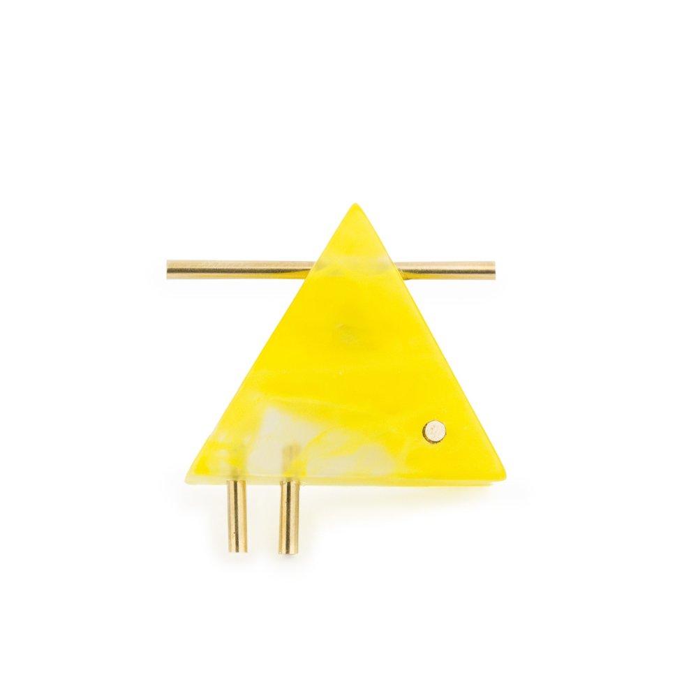 Bauhaus-Brooch-Triangle