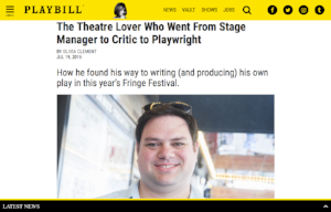 Playwright Michael Bradley's interview with Playbill (July 19, 2016)