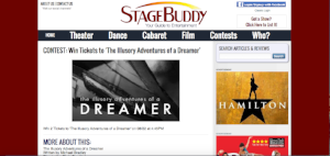 Stagebuddy.com contest to win free tickets to The Illusory Adventures of a Dreamer