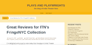 Featured on Indie Theater Now (August 21, 2016)