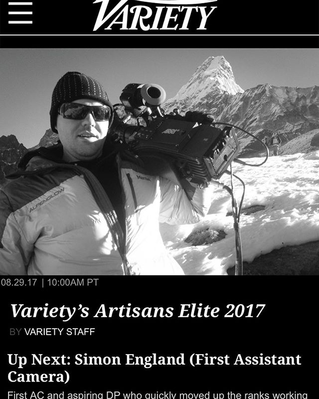 Congratulations to our 1st Assistant Camera, Simon England @englishsly for being recognized by @variety in its Artisans Impact Report for below the line professionals!