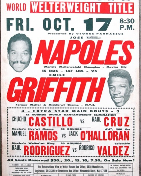 On this day in 1969 former welterweight and middleweight champion Emile Griffith challenged Jose Napoles for his WBC/WBA welterweight titles #boxinghistory #boxinganniversary #napoles #mantequilla #griffith #boxing #kidhersh #boxingwriting #champion #boxer #boxers #sport #mayweather #knockout #canelo #GGG #live #gym #kidhersh #fun #fight #fighting #gloves #ring #joshua #AJ