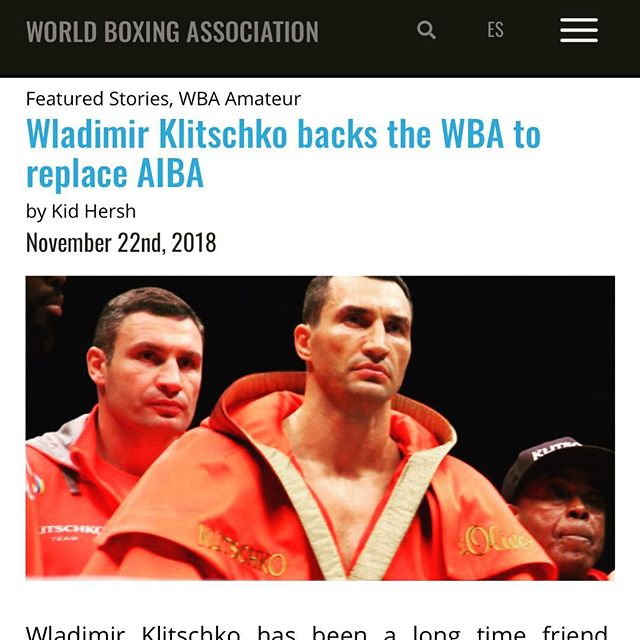 @klitschko backs @gilberticowba and the @wbaboxingofficial team to replace AIBA and centralize boxing ——  huge news 🔥🔥🔥 #Klitschko #wba #worldboxingassociation #mendoza #boxing #kidhersh #boxingwriting #champion #boxer #boxers #sport #mayweather #knockout #canelo #GGG #live #gym #kidhersh #fun #fight #fighting #gloves #ring #joshua #AJ