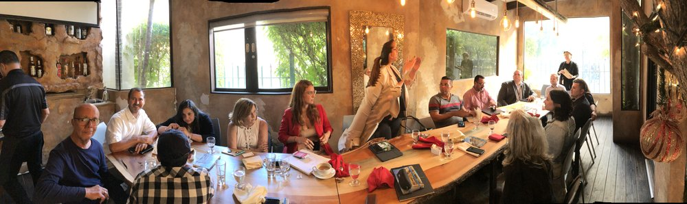 A panorama of the group inside Princesa GastroBar meeting room. A lovely space for a productive meeting.