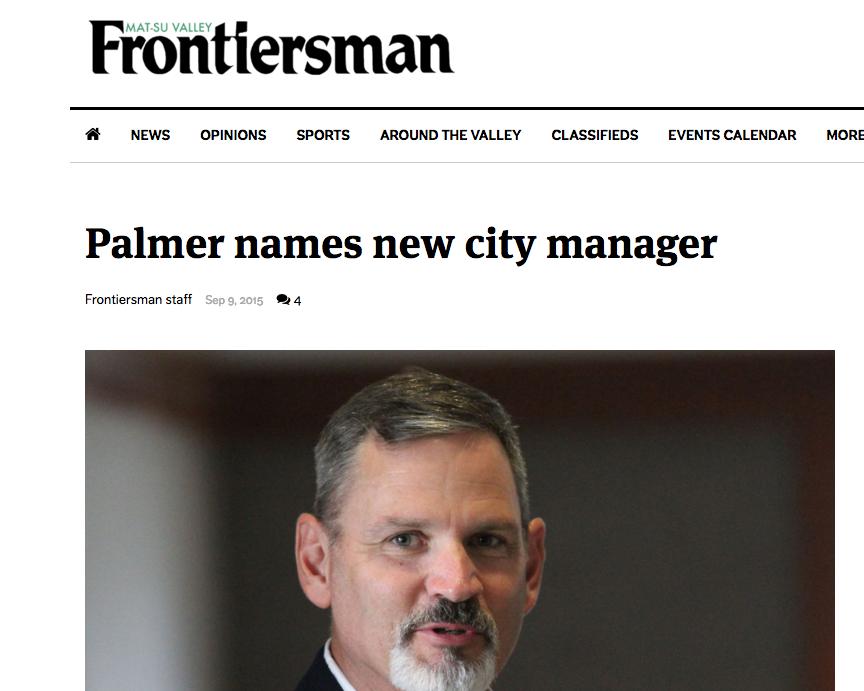 Palmer names...   September 9, 2015