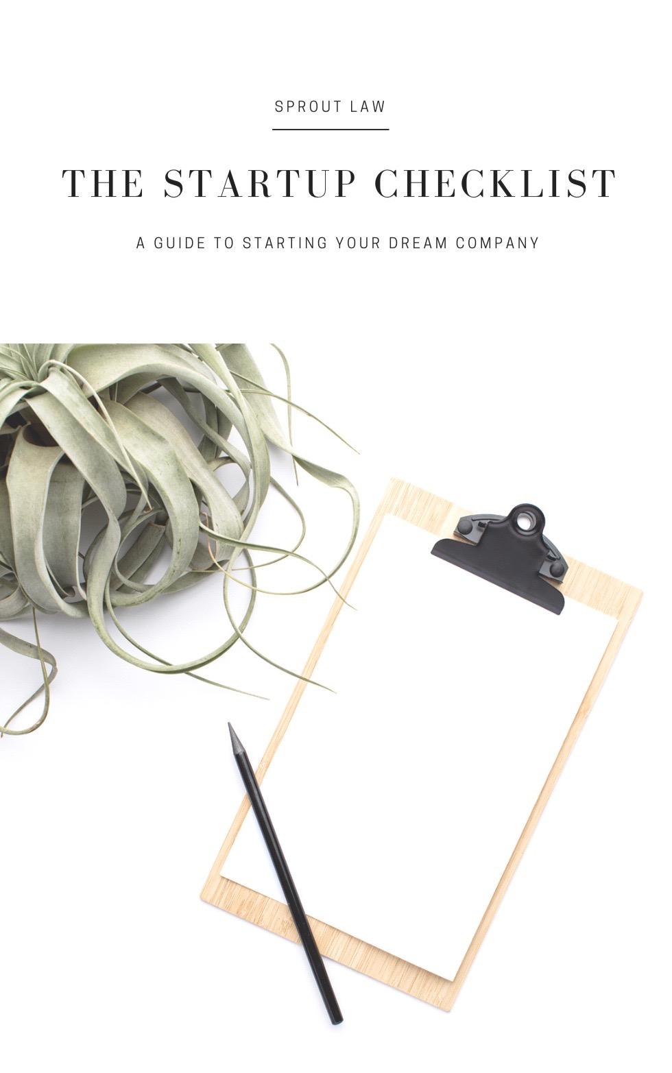 The Startup Checklist - $0
