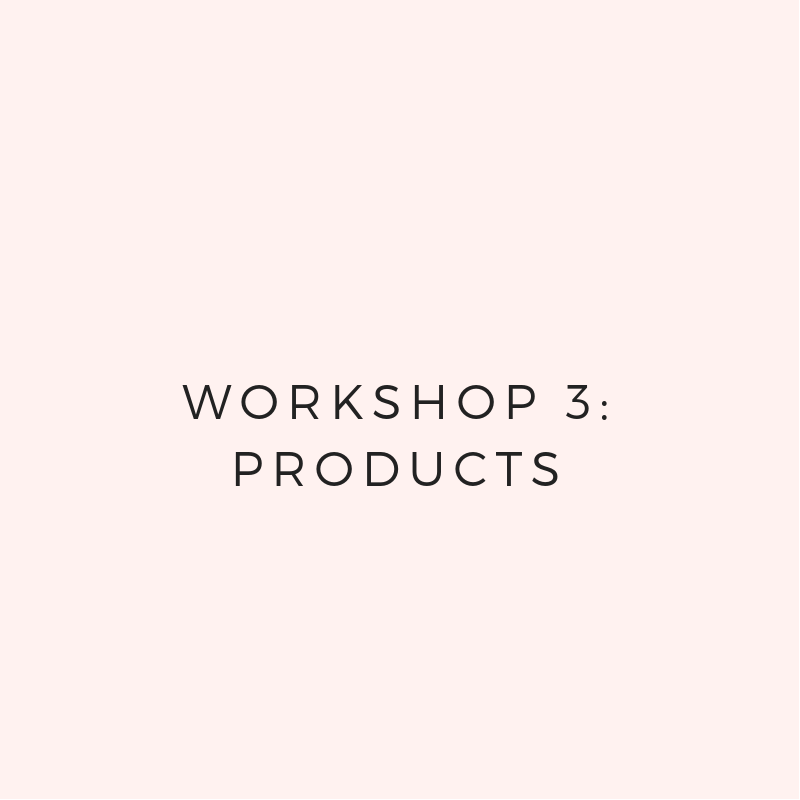- You'll brainstorm and develop a cohesive collection.You'll test your products + services so customers love them.You'll set pricing that makes you and your customers happy.