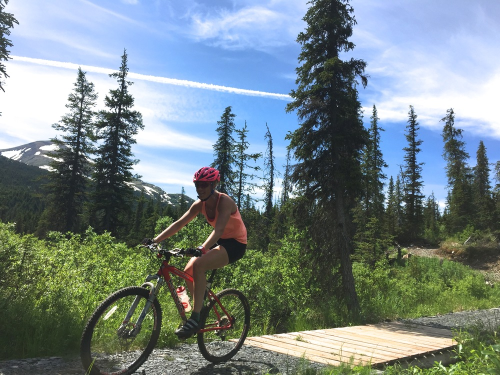 "Quite the ""scenery"" with the mountain biking in AK!"