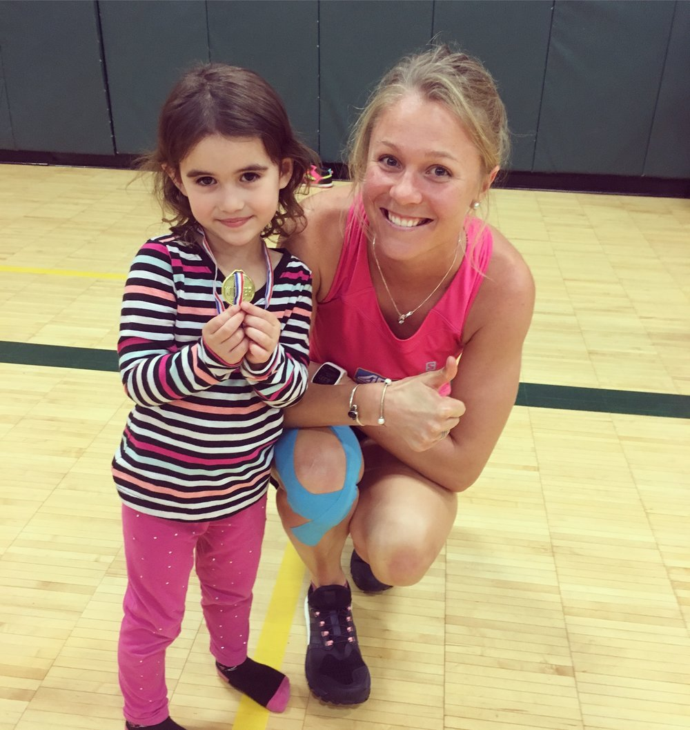 Olympic Games with the young kids at The Alaska Club. This little one was the cutest gold medal winner of the day!