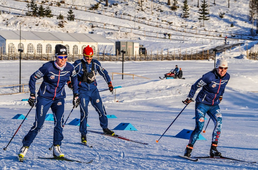 Testing skis, and enjoying kilometers with JP and Rosie. (Matt Whitcomb photo)