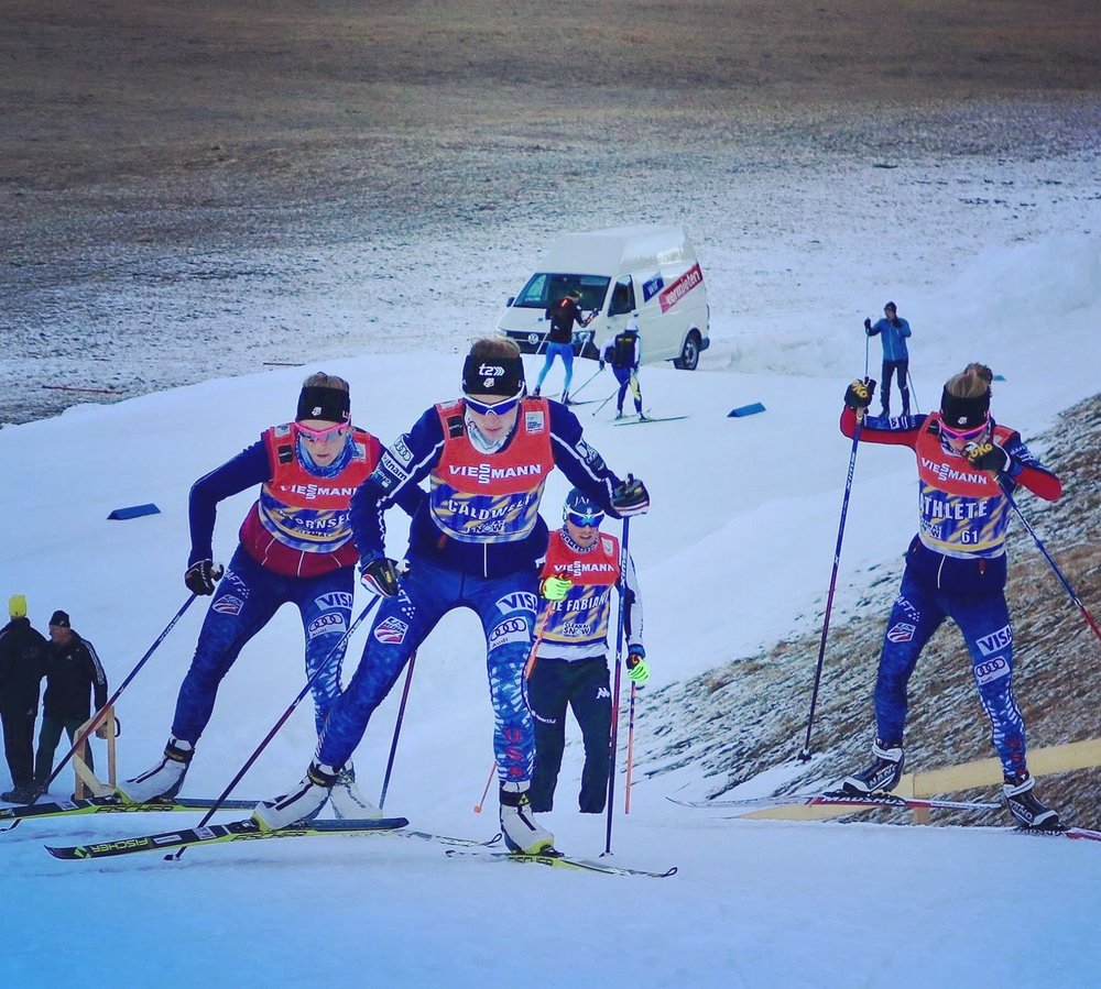 Davos white ribbon training. (Sverre Caldwell photo)