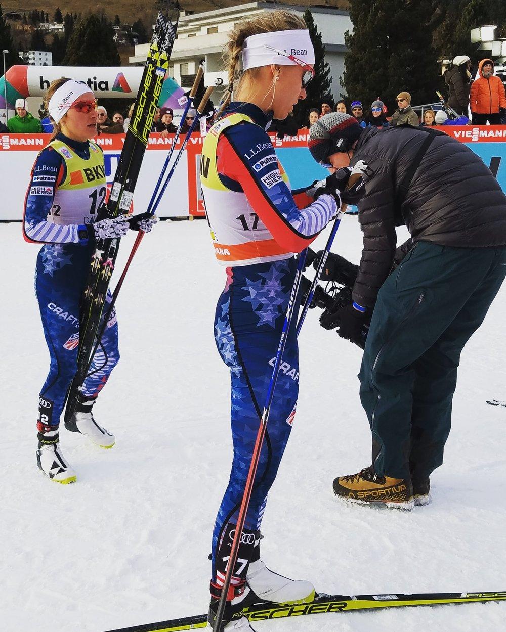 Davos sprint racing. (Noah Hoffman photo)