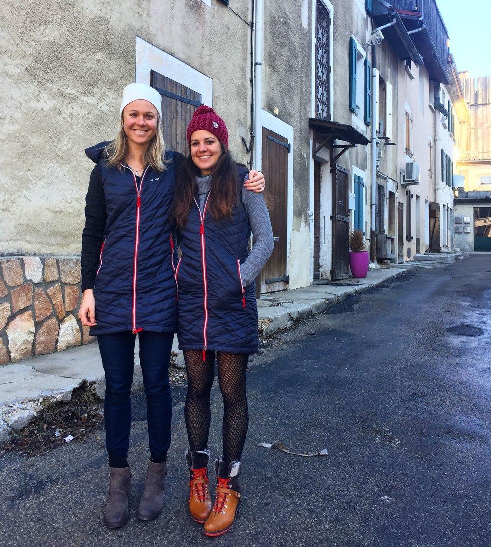 Roaming the streets of Villard de Lans with Marine.
