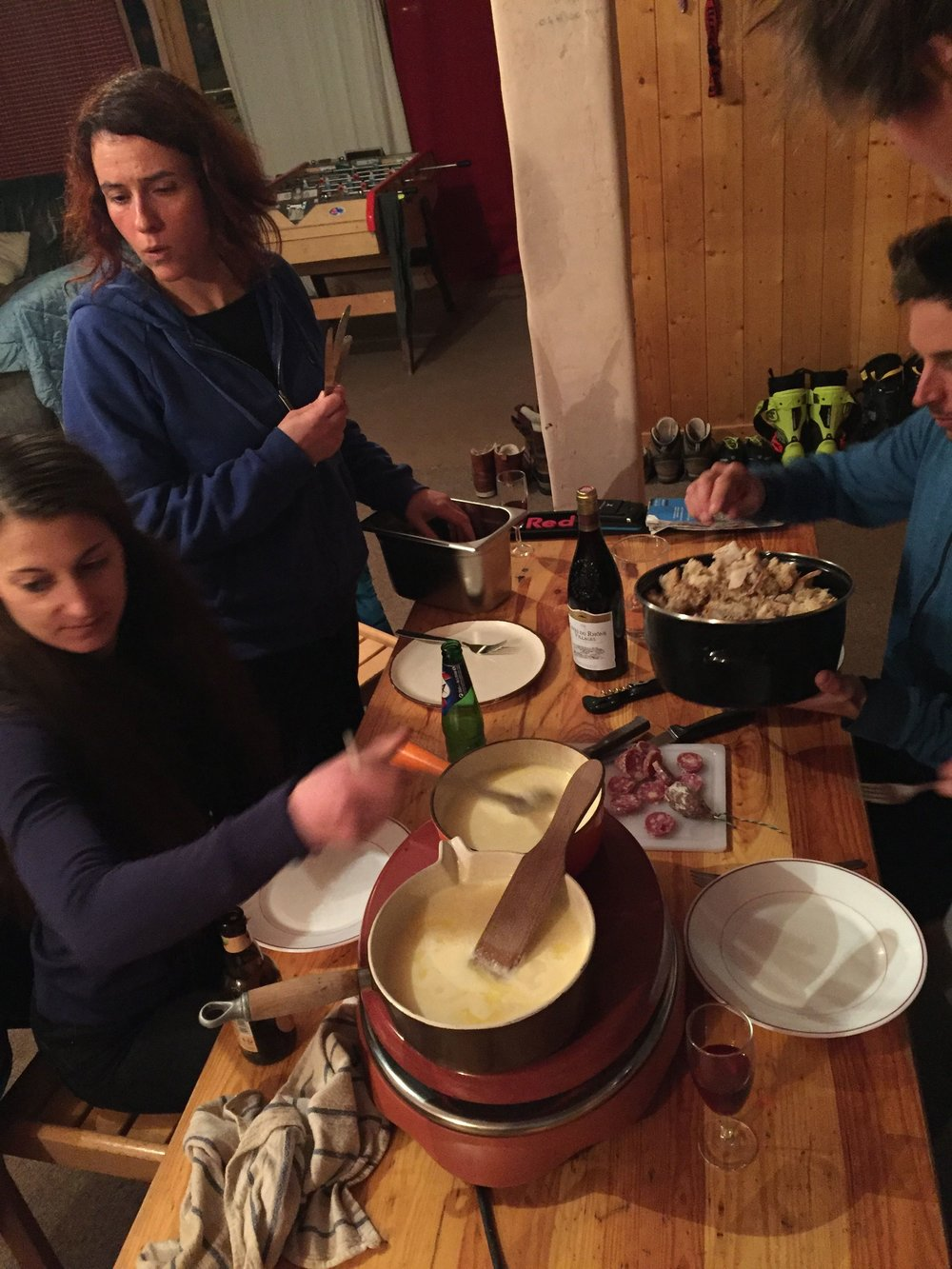 When in France... you must enjoy an evening of Fondue with Chef GuiGui.