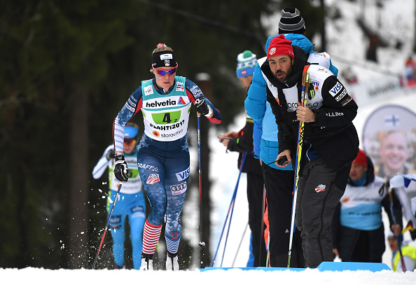Relay racing. So awesome to have our coach from back home around. Thanks Erik Flora! (Getty Images)