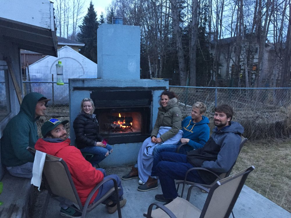 Alaska past-time activity... campfire catch up's.