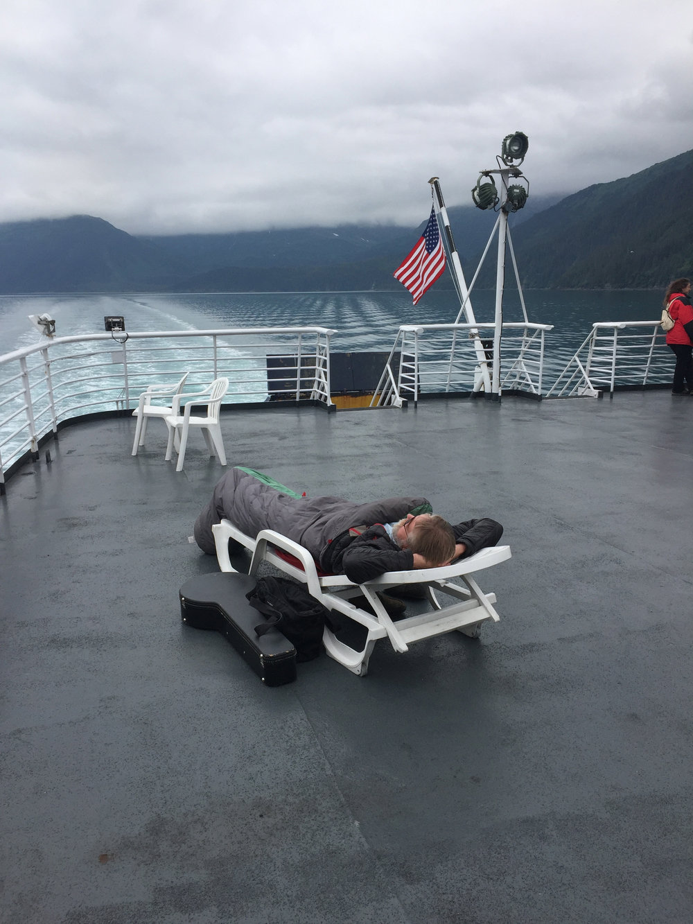 Alaska sun bathing...