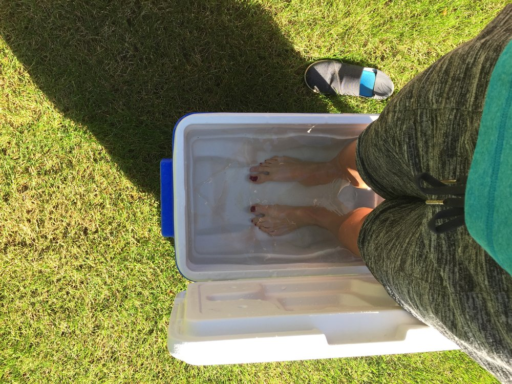 Work hard, recover hard. Making ice baths out of anything and everything!