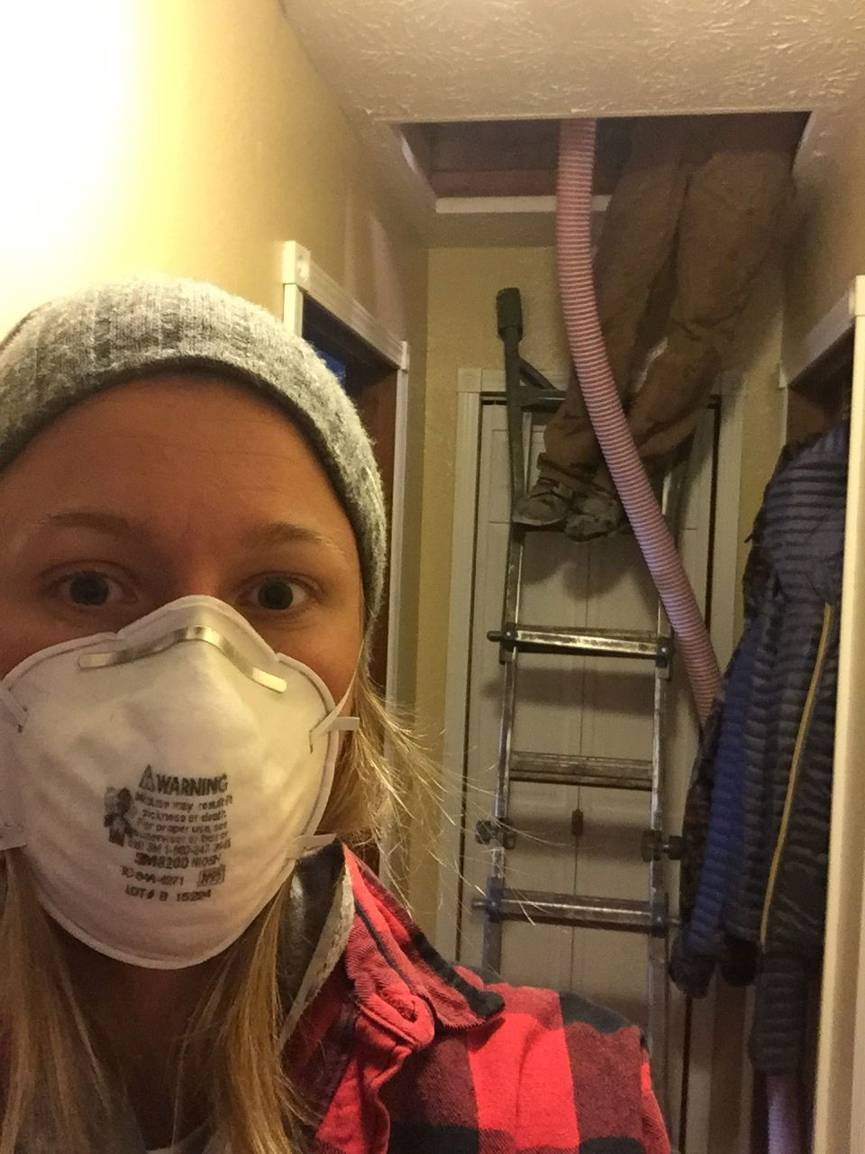 Insulating our house a bit more, now that it is so cold out! Keeping this place cozy.