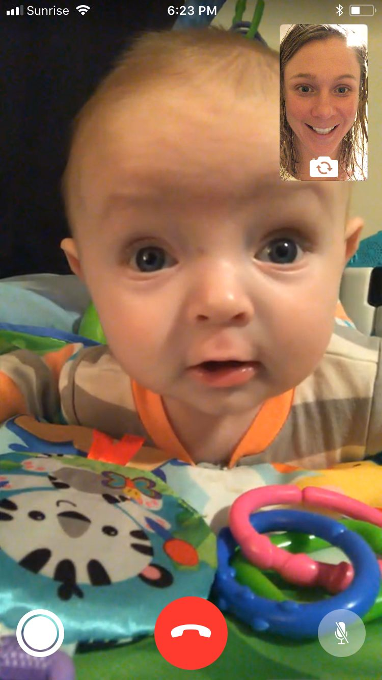 Skyping with my nephew, Carter.