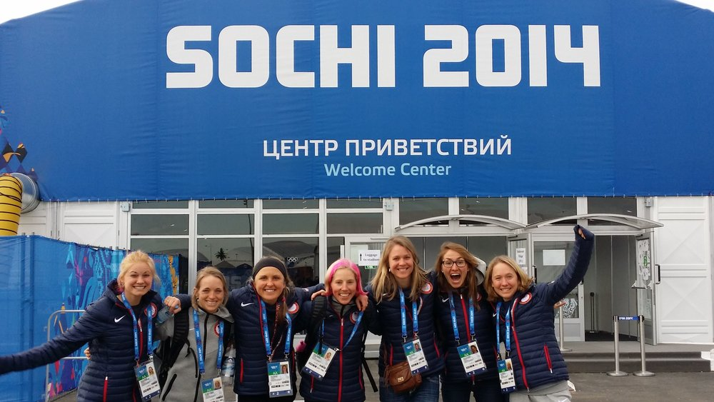 Four years ago, we arrived in Sochi, feeling like we had landed in heaven! I have no doubt when we arrive in Pyeong Chang, Sophie will have the same look on her face, and Jessie will have the same pop in her step, and Liz will have the same tune to her giggle. We may look a little older, and hopefully act a little older, but we are the same young women, with a big dream!