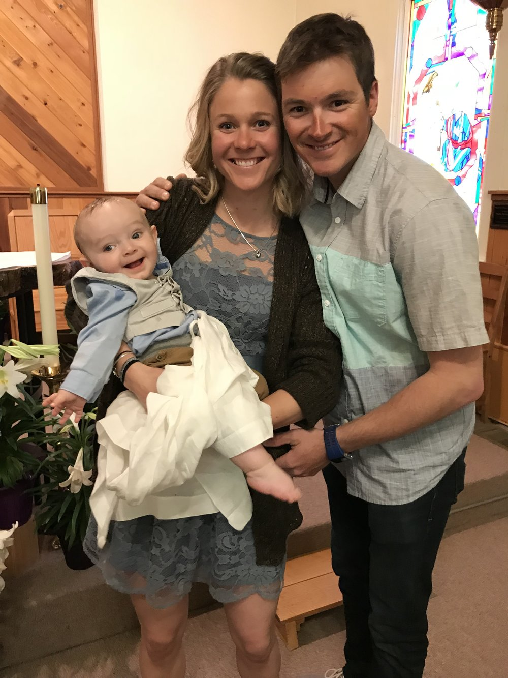 Jo and I are now official godparents of Carter!