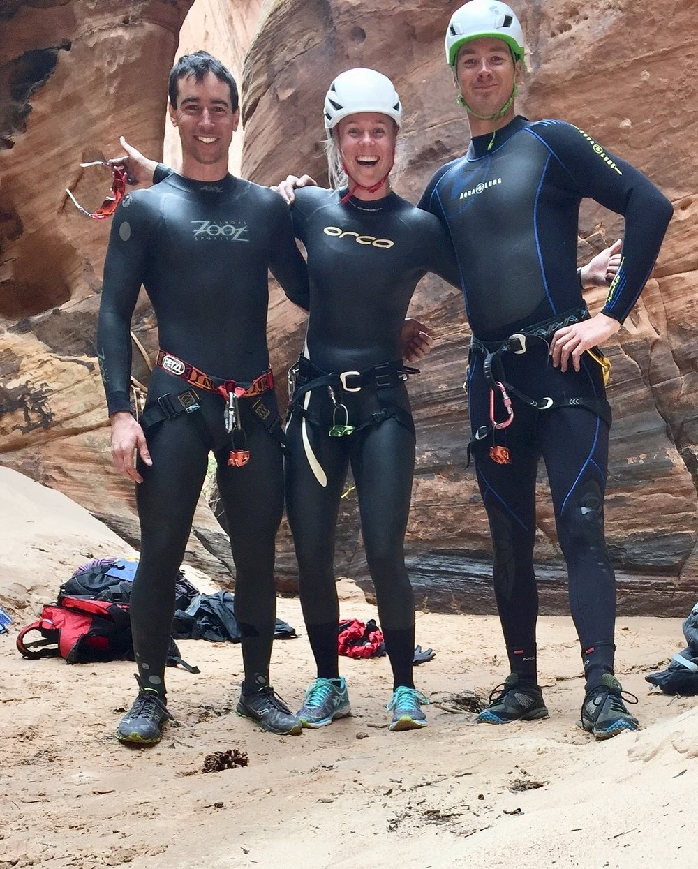 Dream Team, ready to take on the cold water at the bottom!