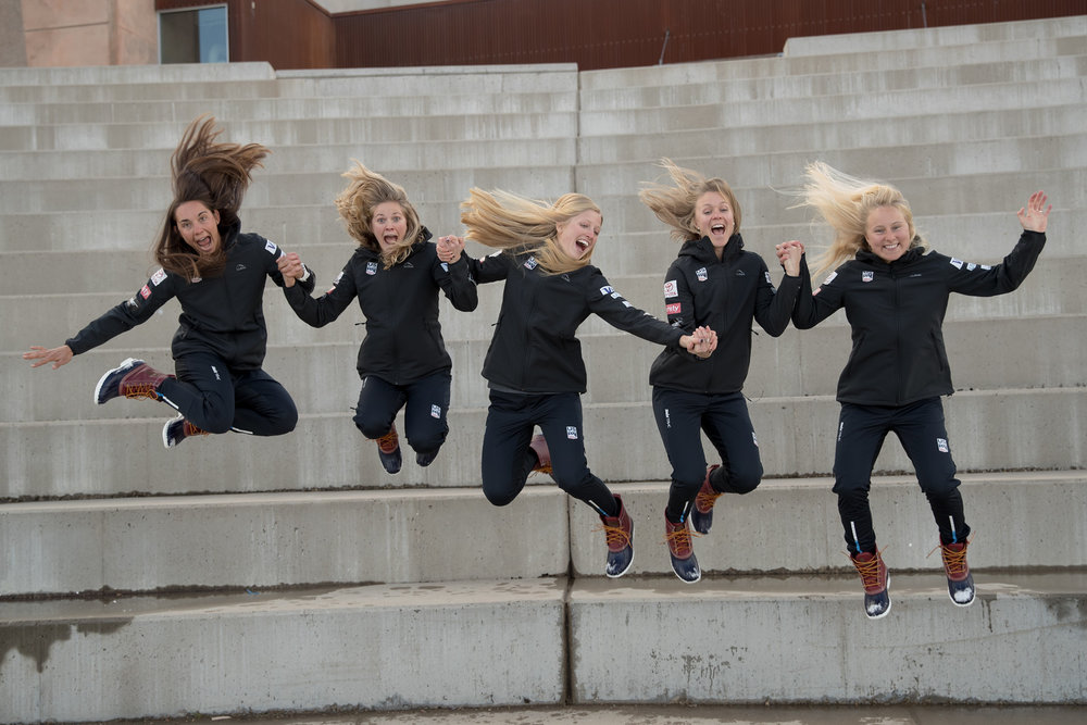 The US Ski Team girls (minus Sophie Caldwell and Ida Sargent). SIA Nordic photo