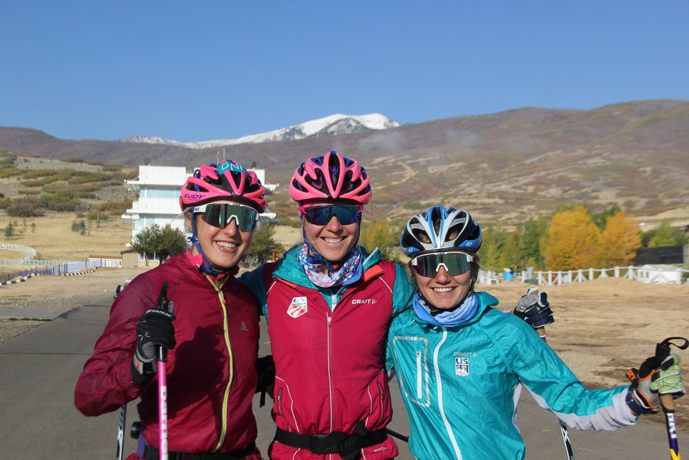"I got to train with some of the young ""up and coming"" girls from my home town, Novie McCabe and Ella Kuzyk who are already crushing on the international level! How cool! (Bryan Fish photo)"