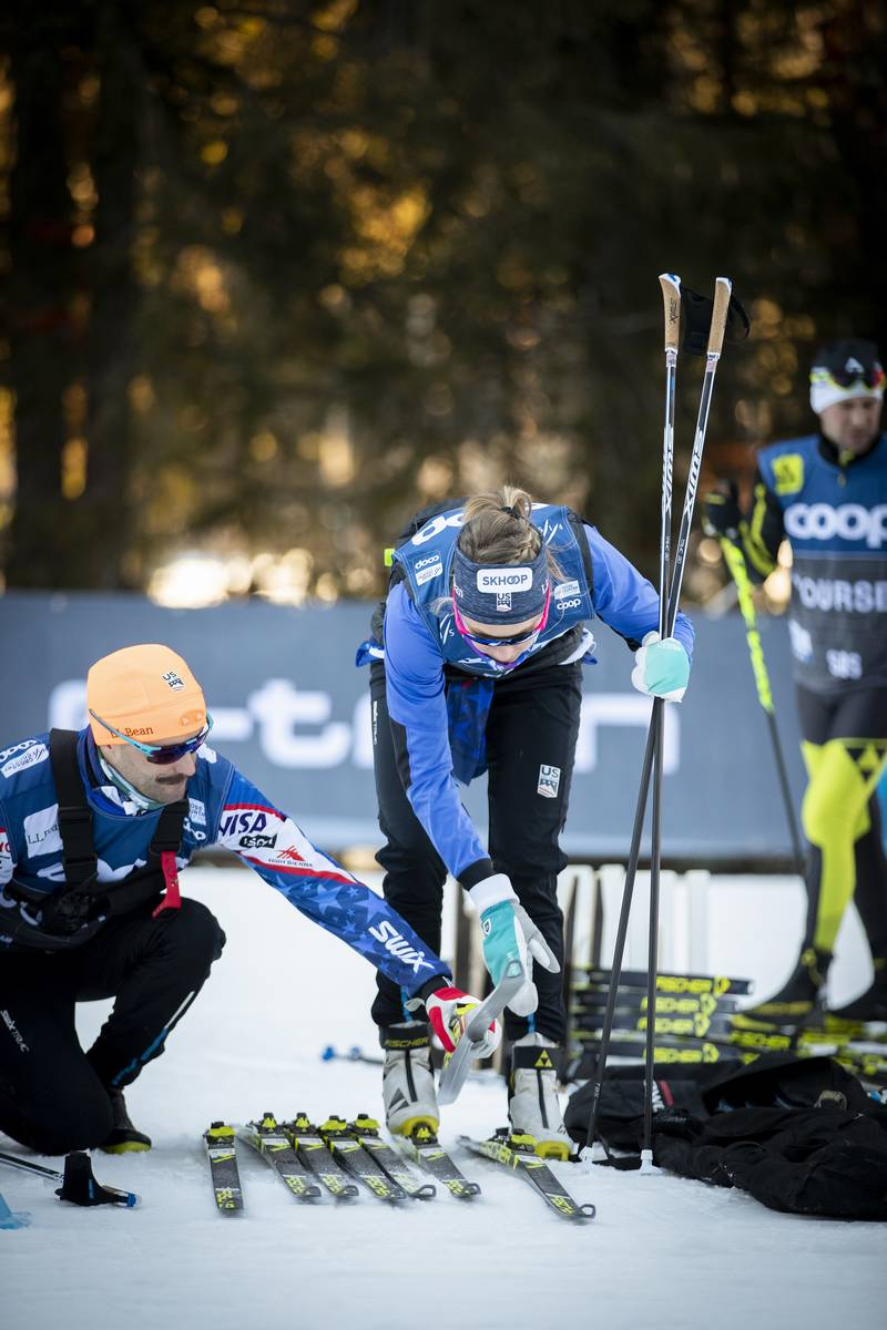 Testing the best of the best the morning of the race (Nordic Focus photo)
