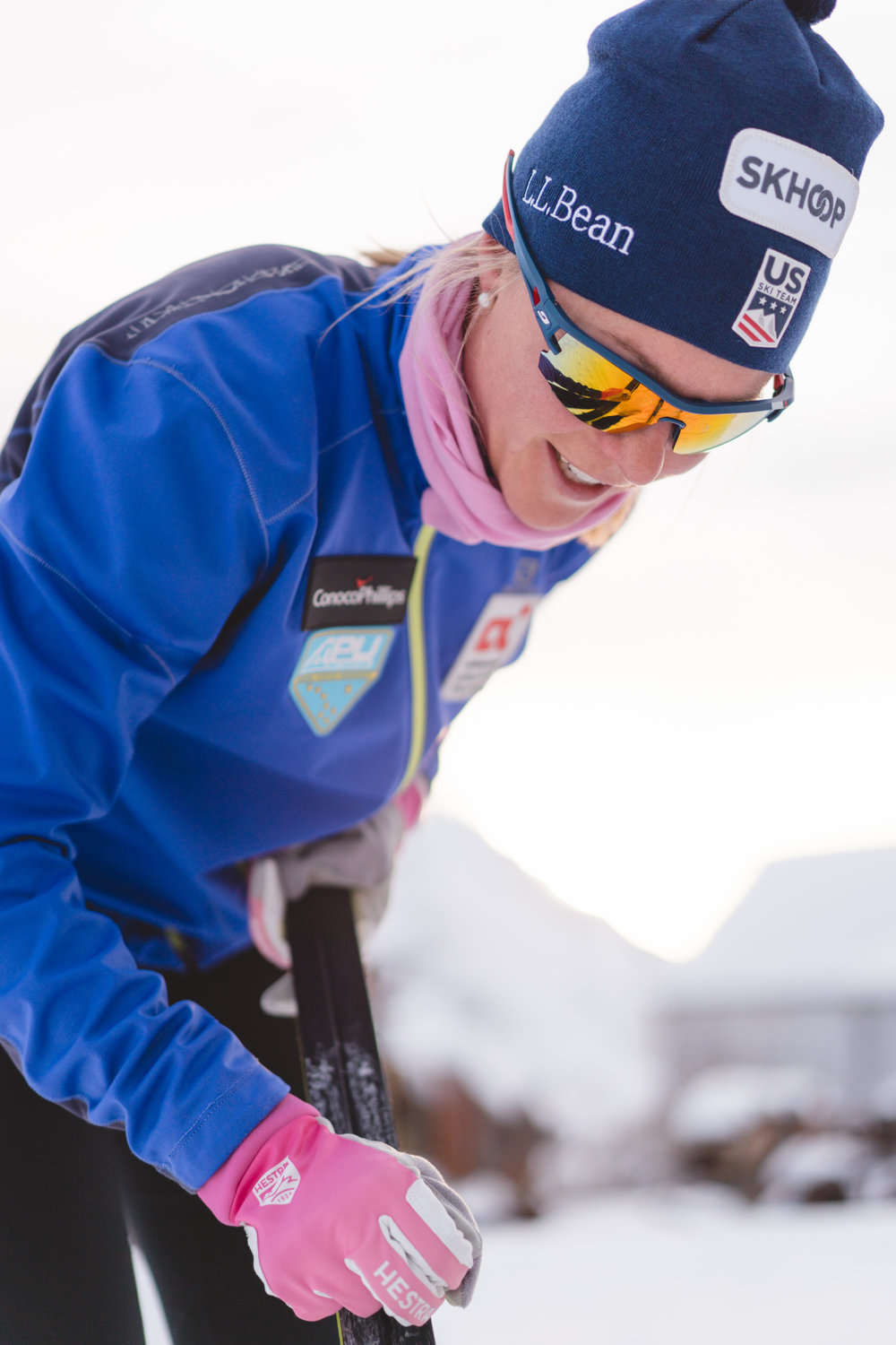 Although I can get by waxing my own skis during training…. I would never get by on the World Cup! (Ophira photo)