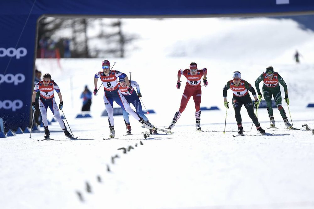 Six person drag race in Cogne (Nordic Focus photo)