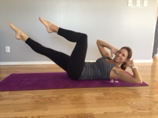 Obliques (bicycle):  Strengthens abdominals and hip flexors.