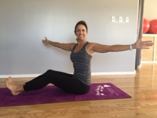 Spine Twist Seated:  Strengthens obliques and improves spinal rotation.