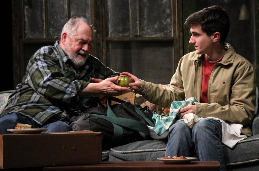 Michael Winters and Jack Taylor in  A Great Wilderness  by Samuel D. Hunter at Seattle Repertory. Directed by Braden Abraham. Dramaturg John Baker; Assistant Dramaturg Sara Keats. Photo by Alan Alabastro
