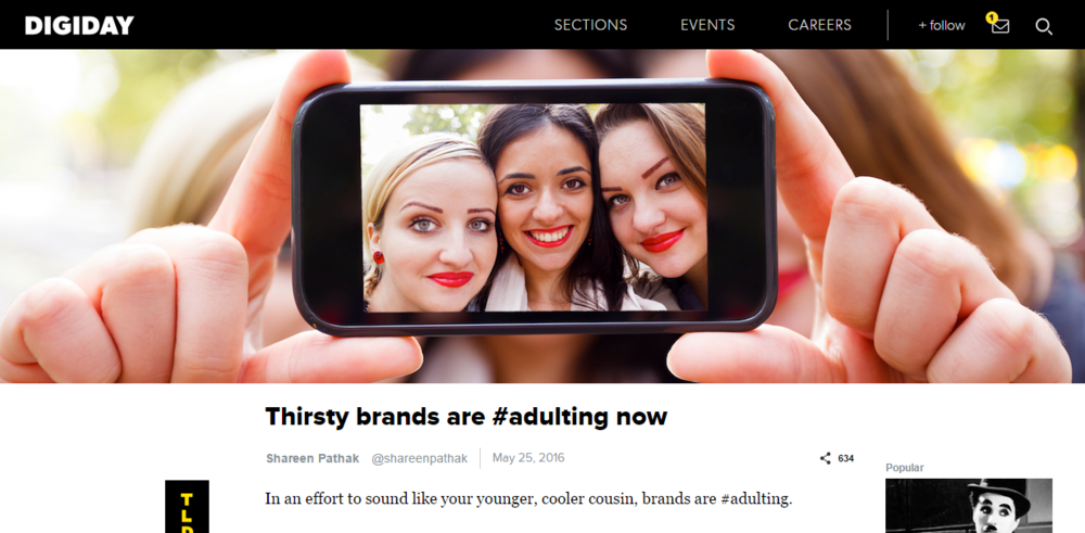 Digiday: Thirsty brands are #adulting now