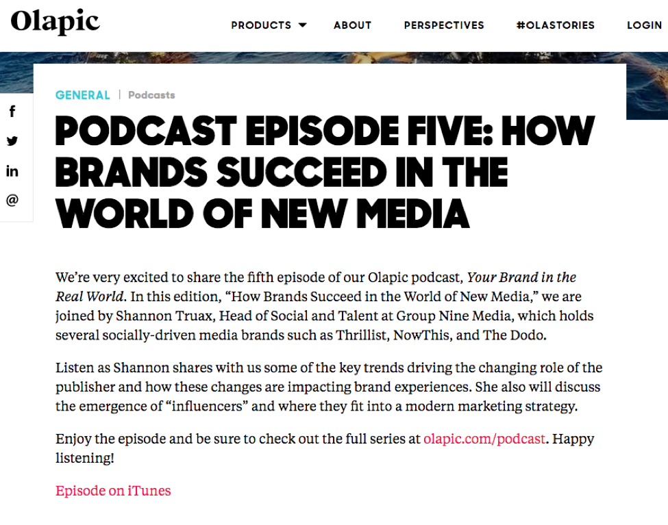 Podcast: How Brands Succeed in a World of New Media