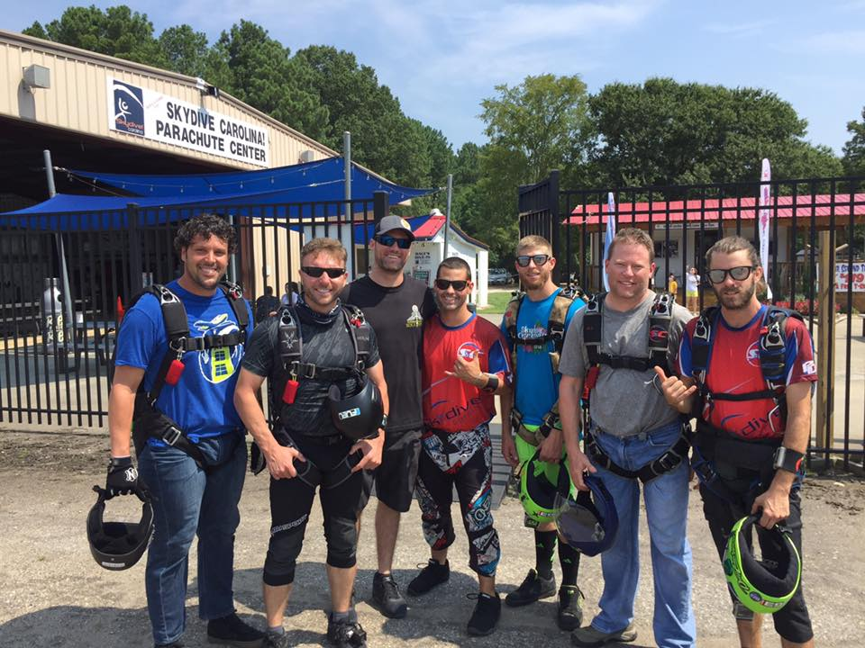 Matt with an Advanced Canopy Course at Skydive Carolina