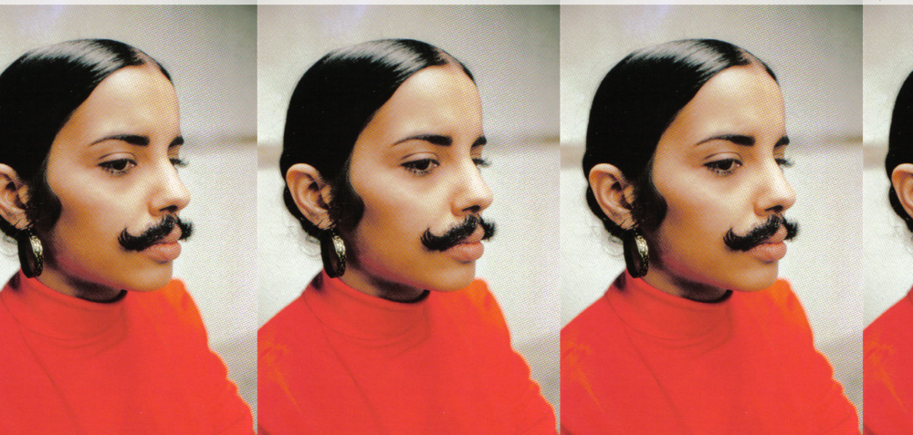 """Untitled"" (Facial Hair Transplant, Moustache) 1972 - Ana Mendieta"