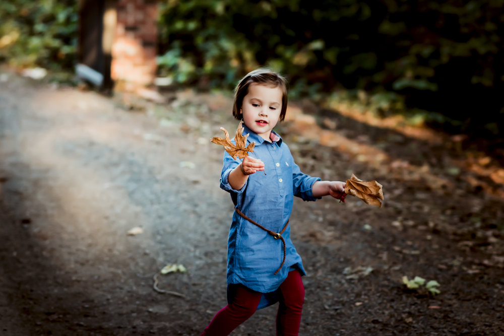 outdoor photography of small girl by Artistic Bliss Portraits at David Hill Winery Forest Grove, OR