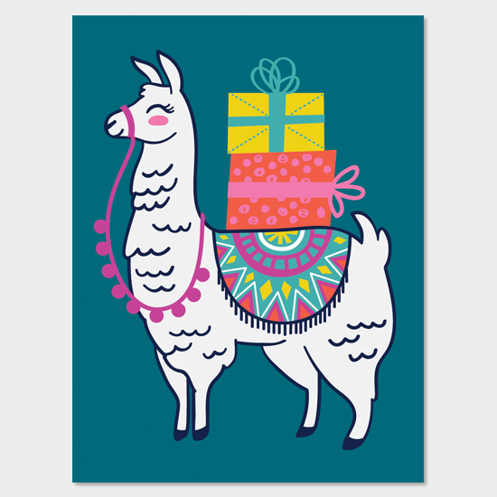 Llama Gift Bag Design for TJMaxx