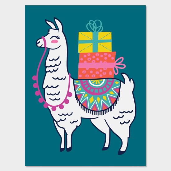 Llama Gift Bag Design