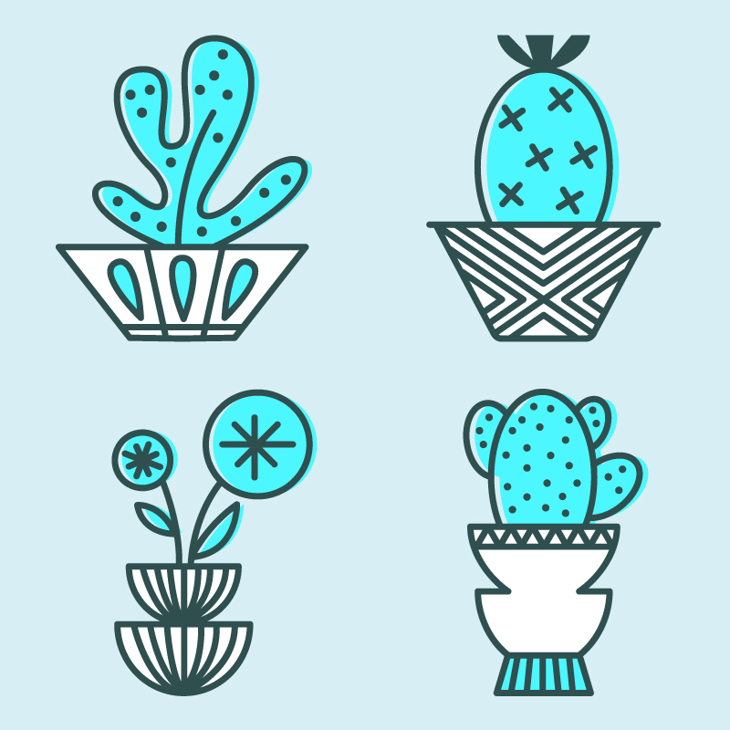 Plant Lady Icons