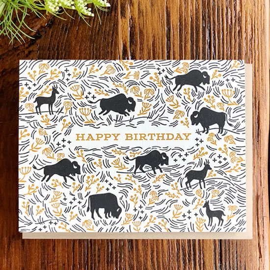 Prairie Letterpress Card