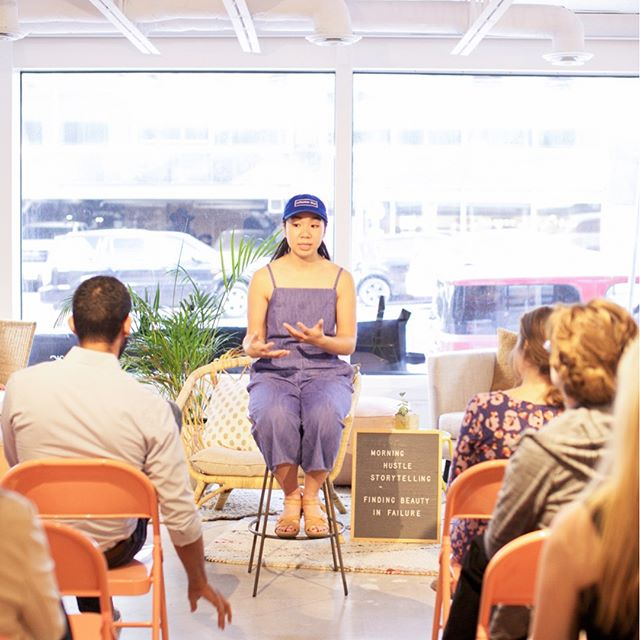 Our second ever Morning Hustle Storytelling event in our event space @canvasatx yesterday left us feeling so grateful, inspired + refreshed in our own personal journey. 🤗 As a new business navigating our way into Austin's creative community, it hasn't been easy. We've had a fair share of failures and continue to have them daily, but that's what is so beautiful about them — we come back stronger + better than ever 💪🏻💪🏼💪🏽💪🏾💪🏿 - A huge thank you to everyone that gathered in our space yesterday morning! We had a delicious breakfast courtesy of  @modernmarket 🌯@soozysmuffins 🥧@chameleoncoldbrew ☕️ - And not to mention some truly AMAZING storytellers that braved the audience and told their personal journeys of what it means and has meant in their life to find beauty in failure. A huge round of applause for Jill Faulkner — founder of @stickwithit.co , Nelson Almanzar — @nelsonnyc , @ninaqho — founder of @collective_blue + @lemongrassaustin and the lovely Elena Carey of the @girlsempowermentnetwork for sharing 💕 Ya'll are incredible 🎉 - We're already looking forward to our next Morning Hustle Storytelling event coming up in a few months! Details to come, friends, but needless-to-say friends, you won't want to miss it 🤗💫