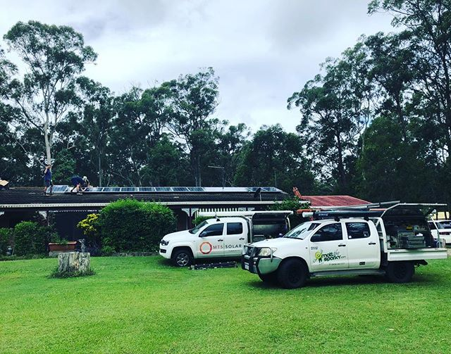 Great to have the whole MTS Group together today helping getting the job done... this time for installing one of our premium enphase solar systems using microinverter technology.