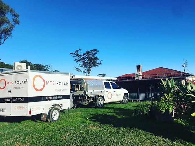 The new rig on site in the hinterland installing another quality solar system for one our clients #byronsolar