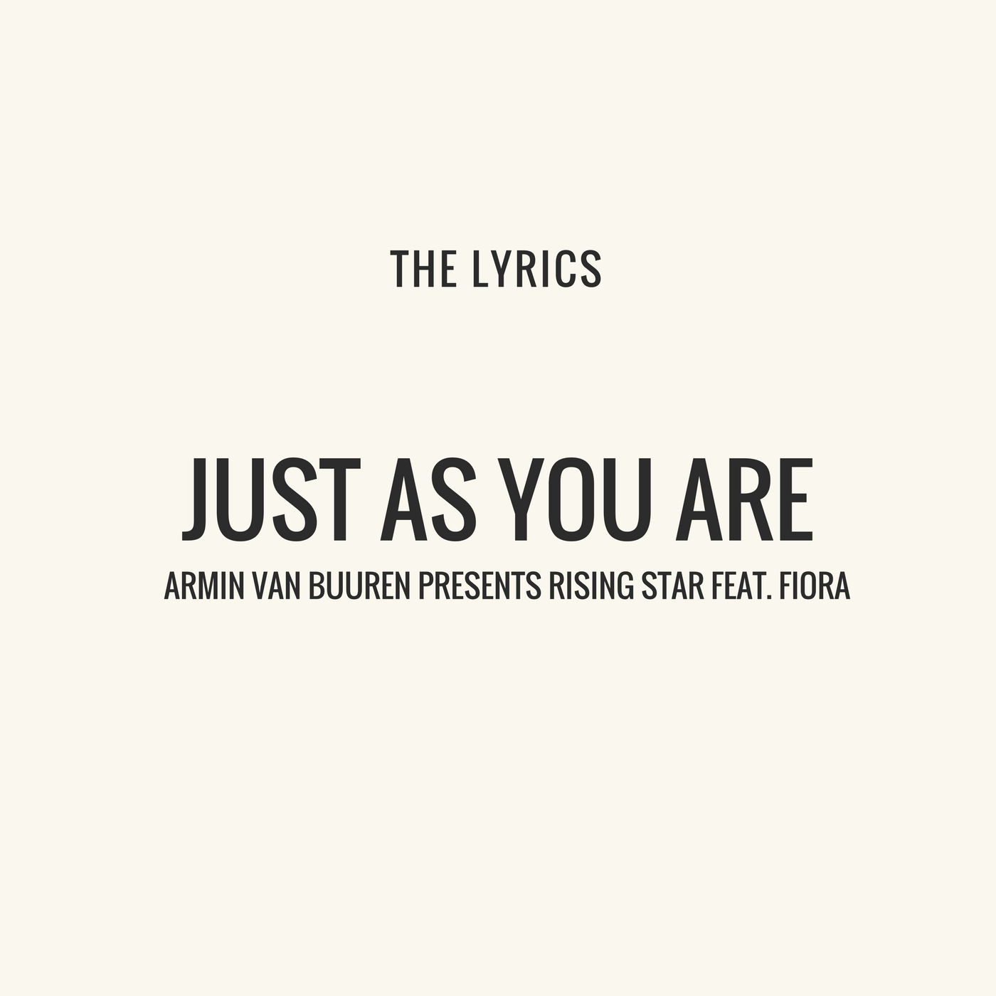 You just may be the one lyrics
